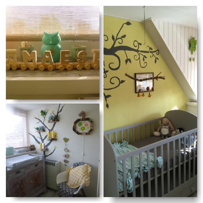 Collage babykamer